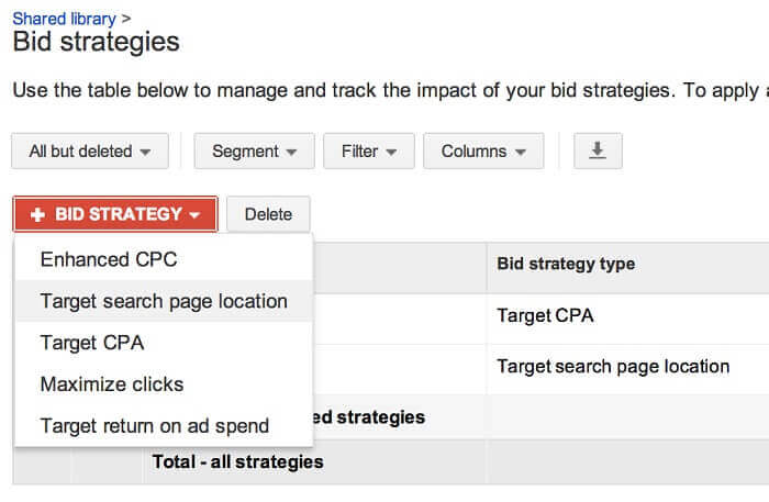 Optimize Bid Strategy